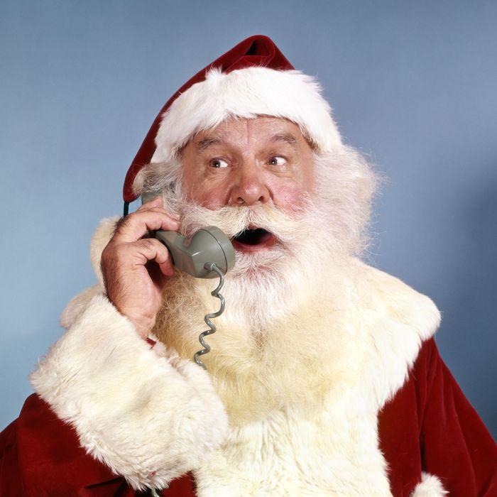 Santa on the phone
