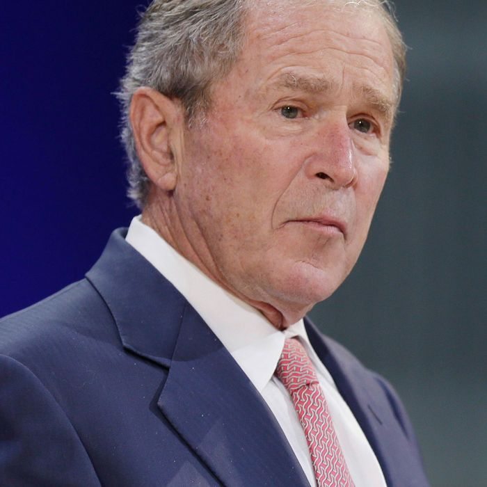 George W. Bush Bashes Trump's Bigotry, Bullying, and Lies