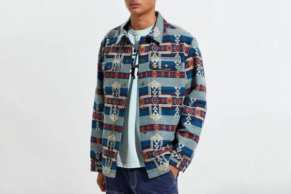 Pendleton Horizon Cross Snap-Front Jacquard Jacket