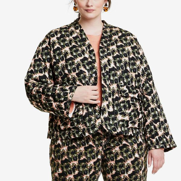 Rachel Comey x Target Women's Animal Print Cropped Quilted Jacket