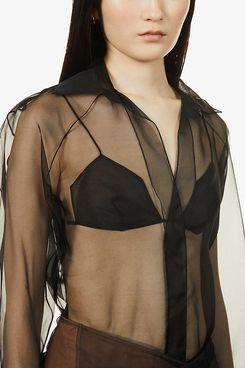Nensi Dojaka Sheer Silk Shirt