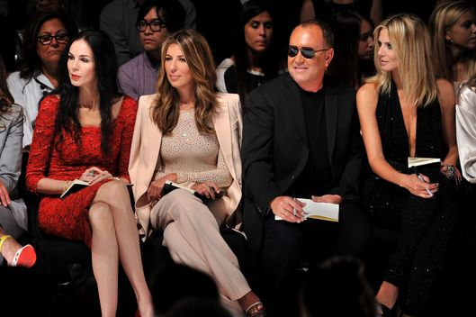 NEW YORK, NY - SEPTEMBER 09:  (L-R) Project Runway judges L'Wren Scott, Nina Garcia, Michael Kors, and Heidi Klum attend the Project Runway Spring 2012 fashion show during Mercedes-Benz Fashion Week at The Theater at Lincoln Center on September 9, 2011 in New York City.  (Photo by Stephen Lovekin/Getty Images for Mercedes-Benz Fashion Week)