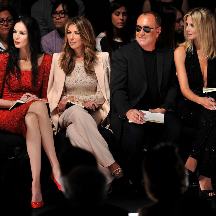 L'Wren Scott, Nina Garcia, Michael Kors, and Heidi Klum.