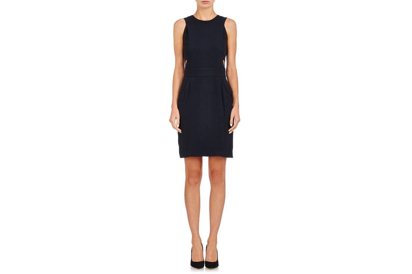 Barneys New York Crepe Cutout Dress