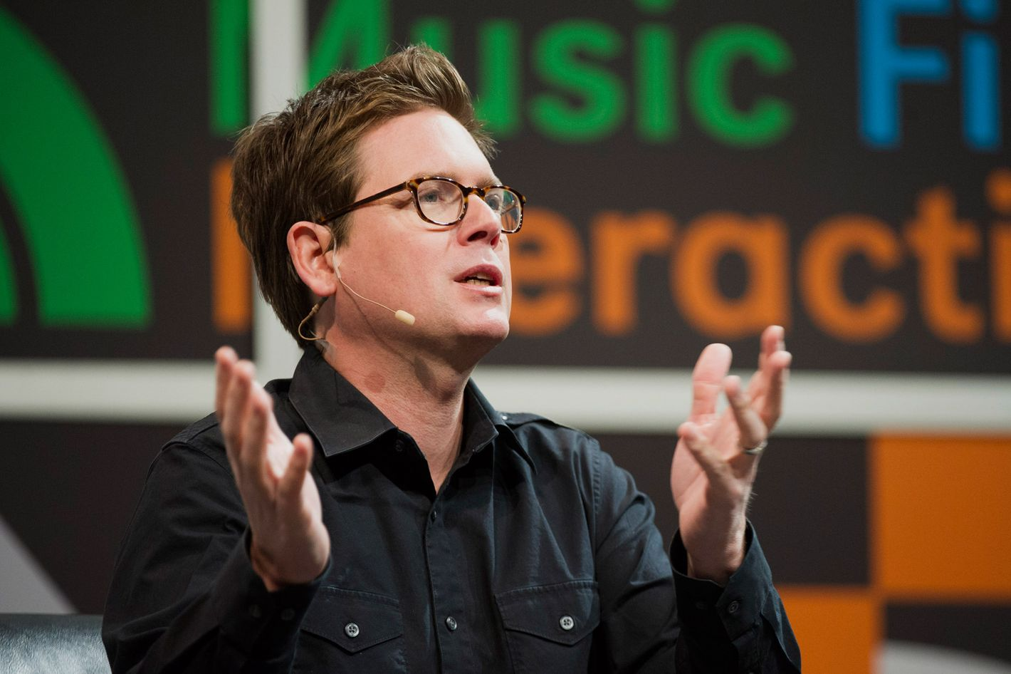 """Christopher Isaac """"Biz"""" Stone, chief executive officer of Jelly Industries Inc. and co-founder of Twitter Inc., speaks during a featured session at the South By Southwest (SXSW) Interactive Festival in Austin, Texas, U.S., on Tuesday, March 11, 2014."""