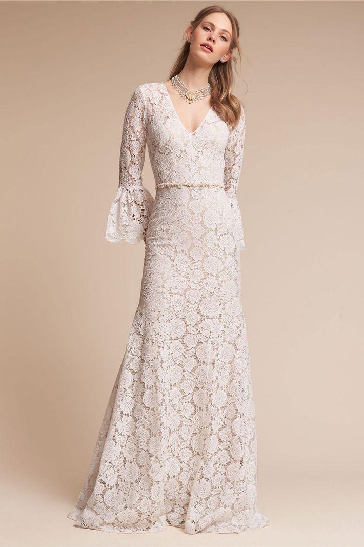 23 Elegant Long-Sleeve Wedding Dresses for Winter Weddings
