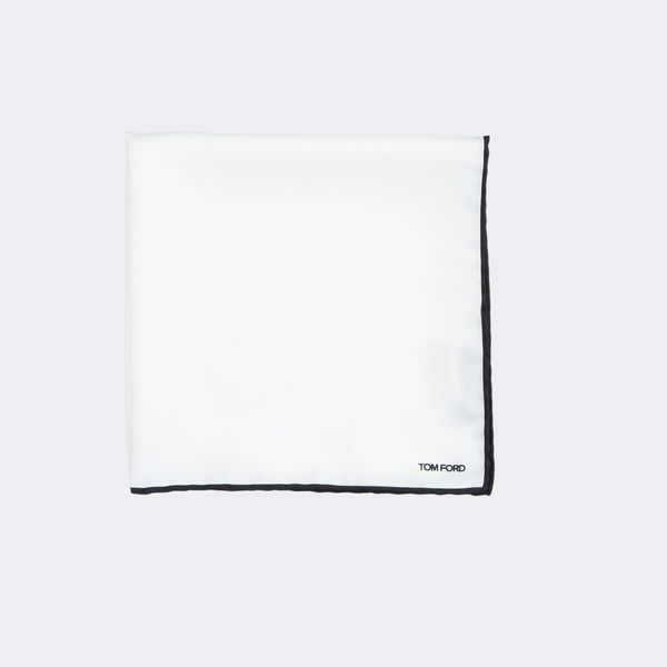 Tom Ford Solid Pocket Square with Contrast Trim