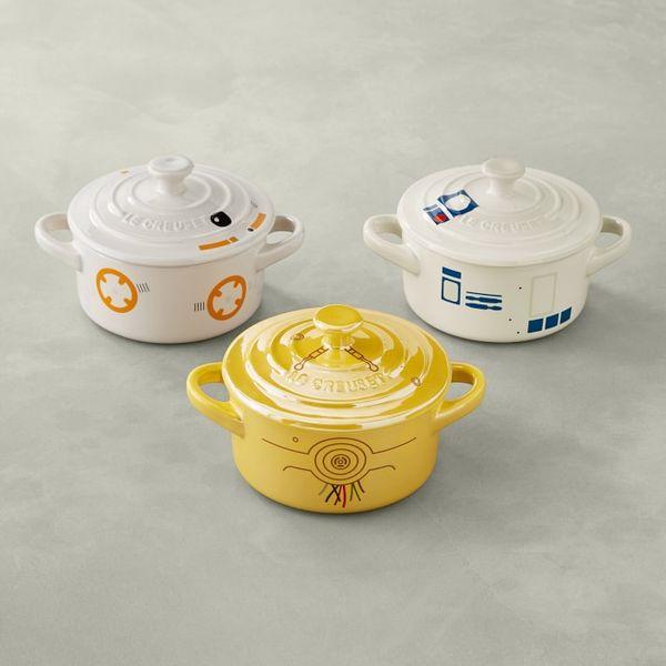 Le Creuset Stoneware Mini Round Cocotte, Star Wars Droids, Set of 3