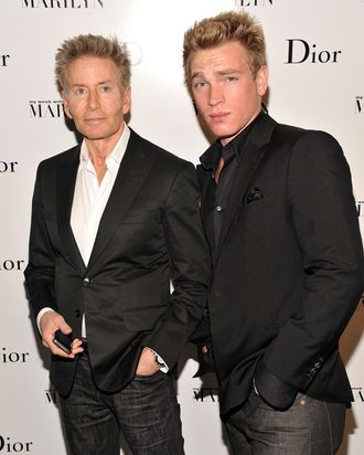 Designer Calvin Klein (L) and Nick Gruber attend Dior and The Weinstein Company's Opening Of