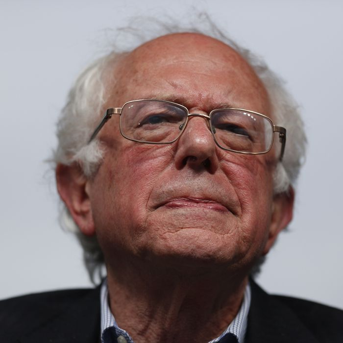 Presidential Candidate Bernie Sanders Holds Election Night Rally