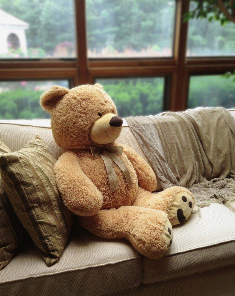 Huge Teddy Bear — Tan