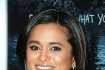Writer Veena Sud arrives at AMC's 'The Killing' Season 2 Los Angeles Premiere at ArcLight Cinemas on March 26, 2012 in Hollywood, California.