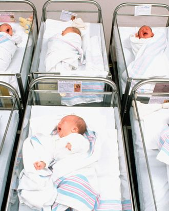 Babies in a hospital.