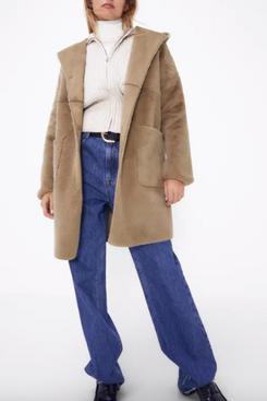 Zara Reversible Faux Fur Coat