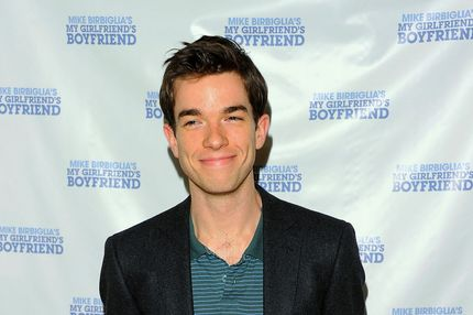 "Actor John Mulaney attends the off-Broadway opening night of ""Mike Birbiglia's My Girlfriend's Boyfriend"" at the Barrow Street Theatre on March 31, 2011 in New York City."