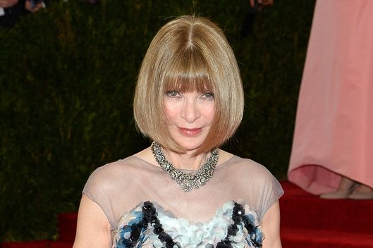 "NEW YORK, NY - MAY 05: Anna Wintour attends the ""Charles James: Beyond Fashion"" Costume Institute Gala at the Metropolitan Museum of Art on May 5, 2014 in New York City.  (Photo by Jamie McCarthy/FilmMagic)"