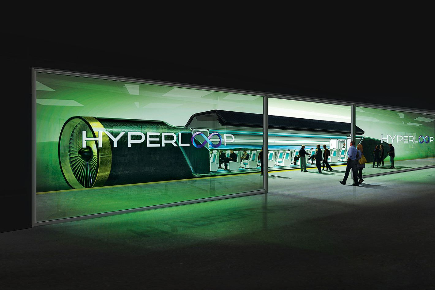 Space X Hyperloop Mass Transportation System Concept