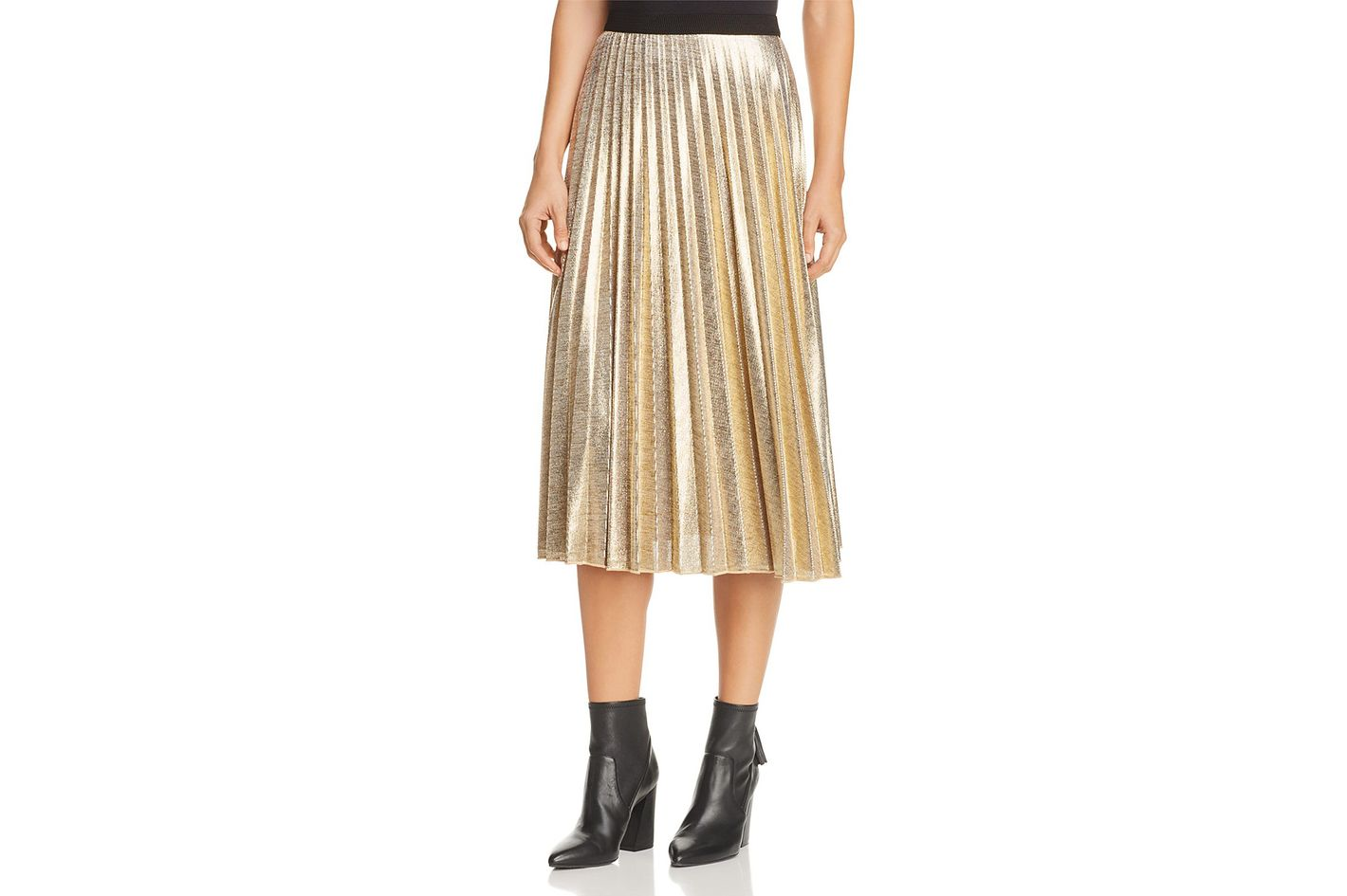 YFB On The Road Hobbes Metallic Pleated Skirt