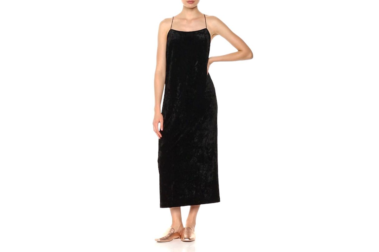 Kensie Women's Crushed Velvet Slip Maxi Dress
