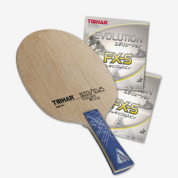 Tibhar Stratus Power Wood Blade With Evolution FX-S Rubber
