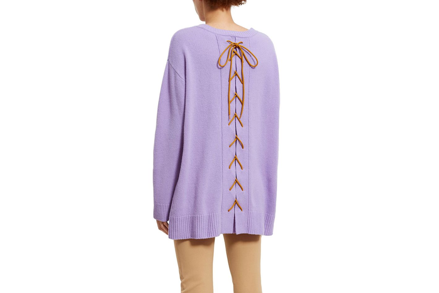 Opening Ceremony LACE-UP BACK SWEATER
