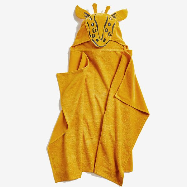 Kids' Giraffe Organic Hooded Towel