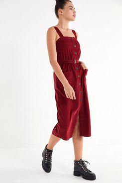 UO Cordelia Corduroy Midi Dress