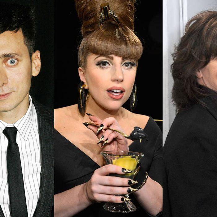 Slimane, Gaga, and Horyn.