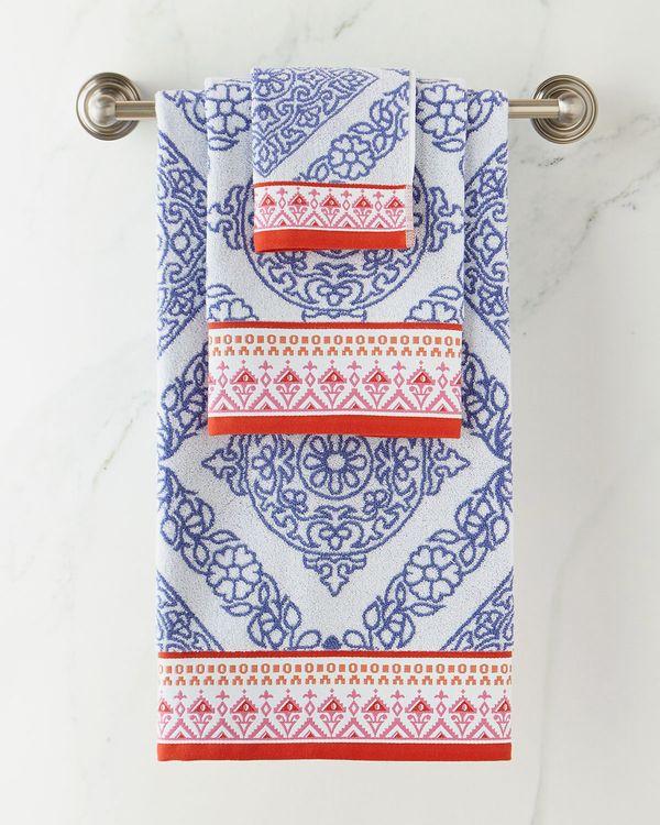 John Robshaw Mitta Periwinkle Bath Towel