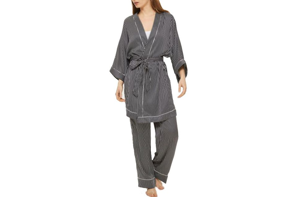 Topshop Satin Stripe Robe