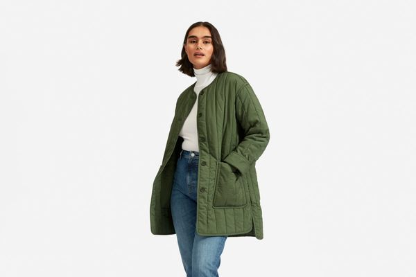 Everlane Cotton Quilted Jacket, Clover