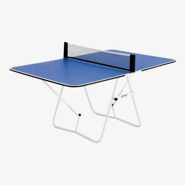 Blue Butterfly Family Mini Foldable Indoor Table Tennis Table