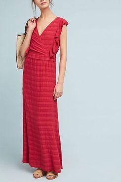 Michael Stars Flutter-Sleeve Maxi Dress