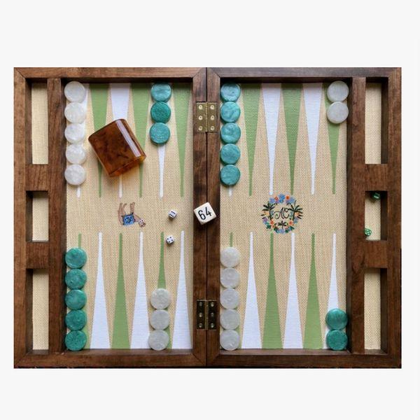 Nine Fair Walnut Backgammon Board