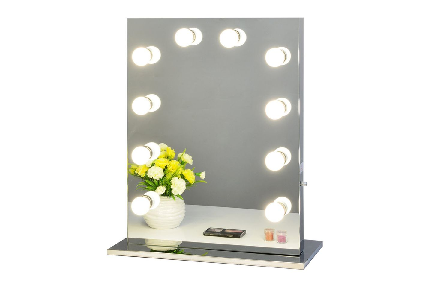 tabletops vanity hollywood stage beauty with makeup light bulbs frame lighting free mirror product led dimmer lighted aluminum store