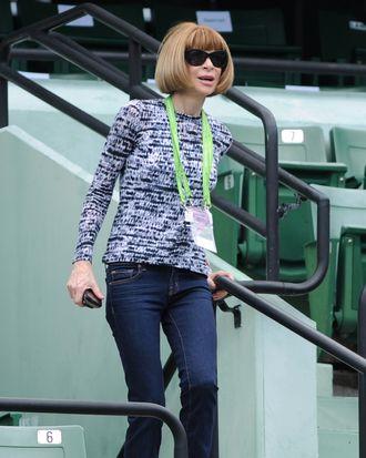 Anna, watching tennis.