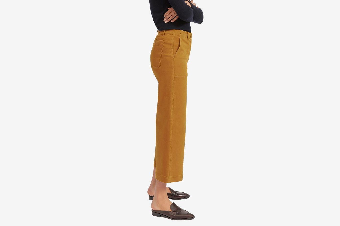 The Wide Leg Crop Utility Pant