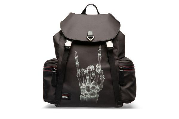 CREW X FUNK Unisex Nylon Backpack in Black