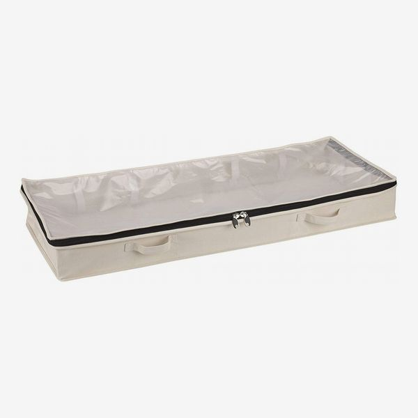 Household Essentials Cotton Canvas Under Bed Clothing and Linen Storage Bag
