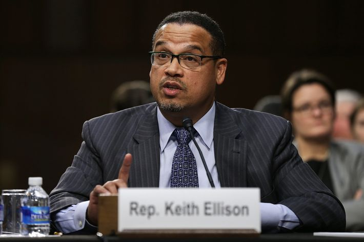 """Rep. Keith Ellison (D-MN) testifies before the Senate Judiciary Committee's Constitution, Civil Rights and Human Rights Subcommittee December 9, 2014 in Washington, DC. The subcommittee heard testimony on the topic of """"The State of Civil and Human Rights in the United States."""""""