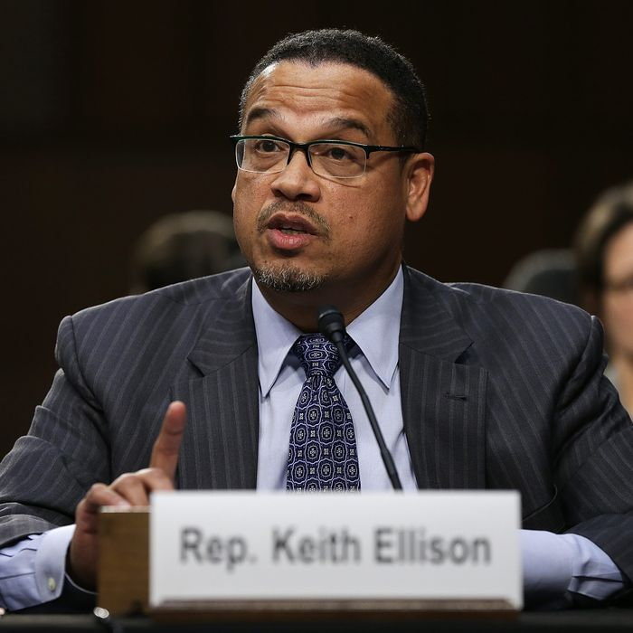 Rep. Keith Ellison (D-MN) testifies before the Senate Judiciary Committee's Constitution, Civil Rights and Human Rights Subcommittee December 9, 2014 in Washington, DC. The subcommittee heard testimony on the topic of
