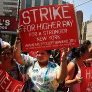 Workers want $15 per hour.