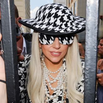 NEW YORK, NY - AUGUST 01: Singer Lady Gaga leaves the
