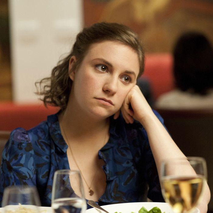 Lena Dunham in <em>Girls</em>.
