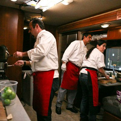 Cooking on an RV: not degrading at all!