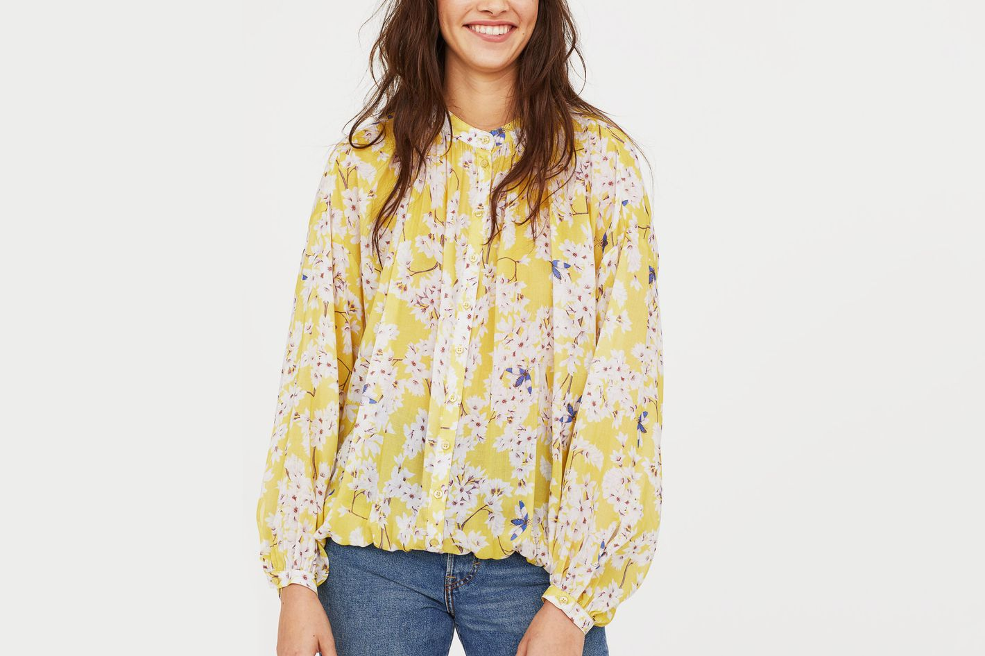 Anna Glover X H&M Patterned Lyocell Blouse