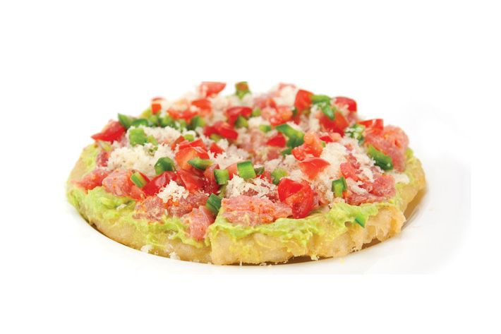Sushi pizza: not so appetizing.