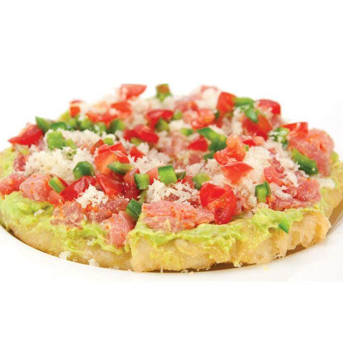 Sushi pizza: not so appetizing.