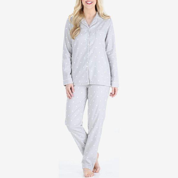 PajamaMania Women's Sleepwear Flannel Long Sleeve Pajamas
