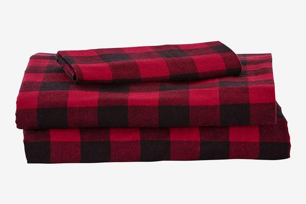 Stone & Beam Rustic Buffalo Check Flannel Bed Sheet Set, Twin XL
